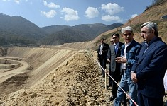 Serzh Sargsyan Participated in Teghout Copper and Molybdenum Mine Project Presentation