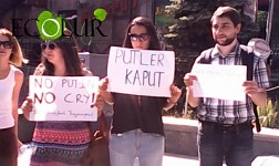 "Public Marked First Anniversary of Armenia's Refusal from Eurointegraion with ""Putler Kaput"" Poster"