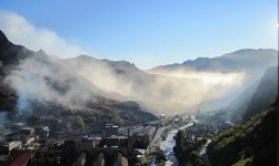 Smog in Alaverdi Town: Copper Smelting Plant Chimney Not Working