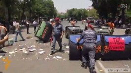 Police Dispersed Protesters and Restored Baghramyan Avenue Traffic