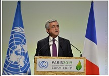 President Made a Statement at the UN Conference on Climate Change in Paris Held with the Participation of the Parties to the Framework Convention