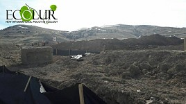 Gndevaz Resident Assuming His House Wall Collapsed Because of Explosions Made by Lydian Armenia