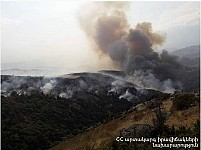 450-500 Ha of Grass-Covered and Forest-Covered Territories On Fire in Vayots Dzor