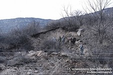 MES: Activated Landslide Zone in Tumanyan Community, Lori Region, Is Not Residential Area