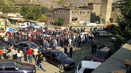 Alaverdi Copper Smelting Workers Blocked Interstate Road and Railroad