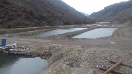 Illegal Fish Farm Constructed in Azat River Gorge