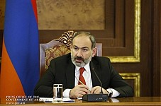 Armenian Prime Minister on Lake Sevan