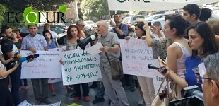 Protest Demonstration of Environmentalists in Regard to Findings of International Expert Assessment of Amulsar Project