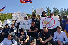 Lesson and Job Strike in Jermuk for Amulsar and To Save Jermuk Mineral Water Resort Town