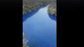 Water of Ranchpar village Canal Has Acquired a Suspicious Color