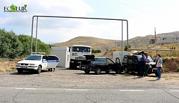 Jermuk Residents Blocked Road Leading To Amulsar with Lydian Armenia's Trucks