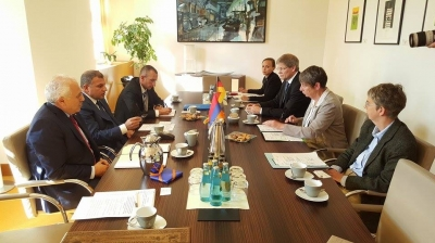 Nature Protection Ministry Discussed with His German Counterparts Issues on Introducing Water Usage Automatic Management System in Ararat Valley and Climate Change