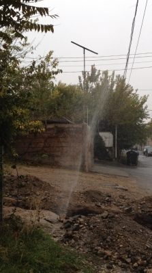 The Damaged Water Pipeline in Parseghov Street Repaired by the Residents