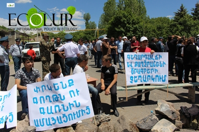 """Let's Save Goght and Garni from Desertification"", Protest Action Continues (Photos)"