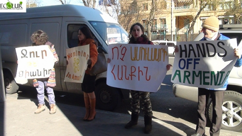 Environmetal Activists Called for Ameria Bank to Refrain from Funding Amulsar Project (Photos)
