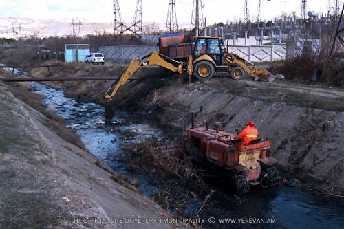 Yerevan Canal and Riverbeds Being Cleaned