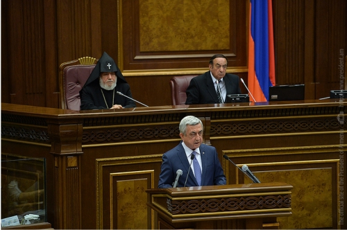 Armenian President to MPs: Measures Aimed at Recovering Ecological Balance of Lake Sevan Must Be Continued