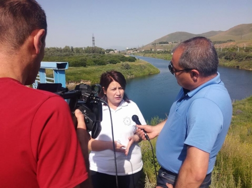 'Hands off Sevan!!!' Protest Demonstration Against Super Water Outlets from Lake Sevan in Gegharkounik Region (Photos)