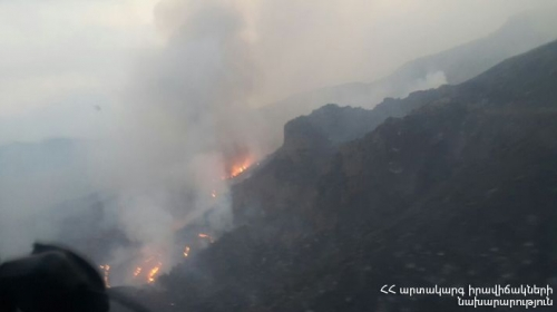 Still Impossible To Extinguish Fire in Khosrov Forest State Reserve