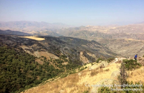 Smoking Spots Detected in Khosrov Reserve Extinguished