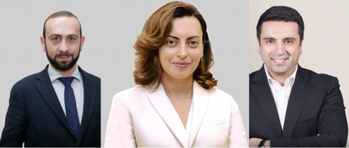 Ararat Mirzoyan To Be Nominated as Parliament Speaker: Lena Nazaryan and Alen Simonyan Nominated as Vice Speakers