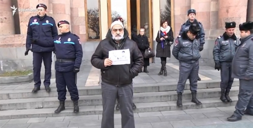 Protest Demonstration in Front of Governmental Building in Support of Arthur Grigoryan