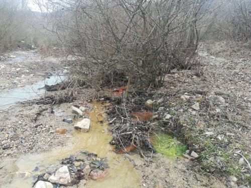 Liquid from Unknown Source Flowing into Shnogh River from Teghout Mine: Inspection Following Alarm Signal