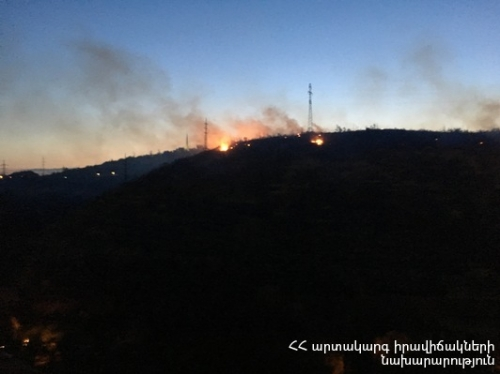 Fire Broken Out Near Tsitsernakaberd Complex Extinguished: Around 20 ha Vegetation Cover Burnt Down