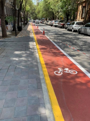 Separate Cycling Lane To Be Organized in Driving Part of Hin Yerevantsi and Koghbatsi Streets in Yerevan Starting from 8 August