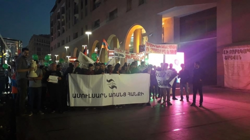 Large March Held in Yerevan In Support of Amulsar