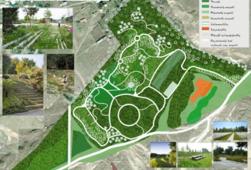 Forest Park and Recreation Zone Plannted to establish in Area of 40 ha of Formerly Developed Stone Quarries in Artik