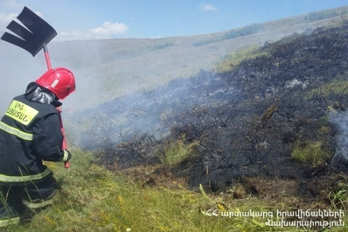 Fire Broken Out in Artsvaberd Self-Extinguished: 25 Ha of Brushwood, Fallen Deadwood and Grass Cover Burnt Down